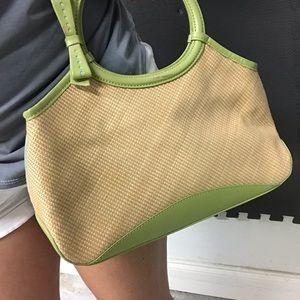 Cole Haan basket-weave satchel